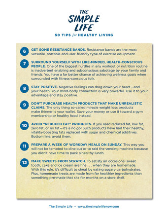 The Simple Life 50 Tips for Healthy Living | Website Handout P. 3