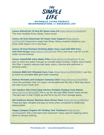 The Simple Life Mobile Living Product List | Website Handout P. 3