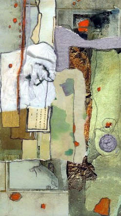 Winter/Fall: Abstraction 1- Mixed Media Collage (on board) - 2015