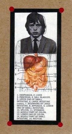 Inside Mick Jagger - Mixed Media Collage (on paper) - 2013