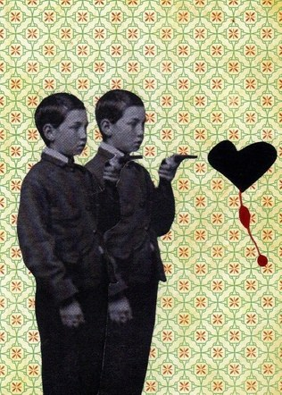 Boys - Mixed Media Collage (on paper) - 2013