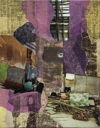 Violet - Mixed Media Collage (on canvas) - 2011