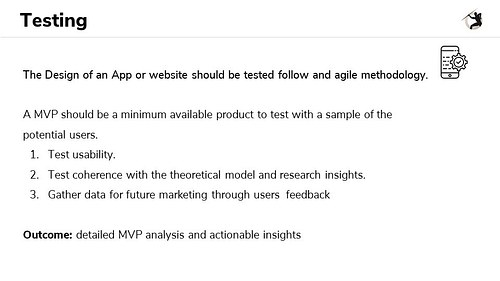 Outline for Testing an MVP