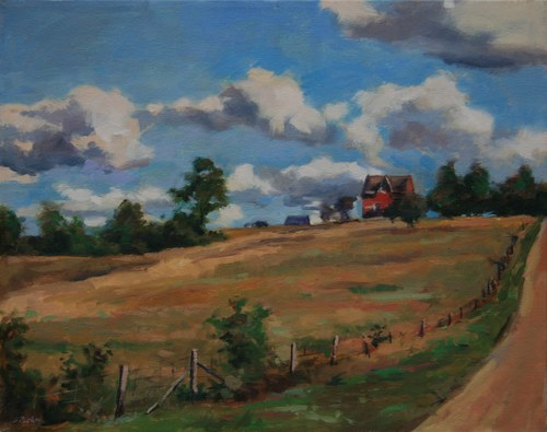 Joro Petkov, Oil on canvas, Landscape, Cottage, # 21