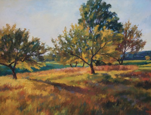 Joro Petkov, Oil on canvas, Landscape, # 16