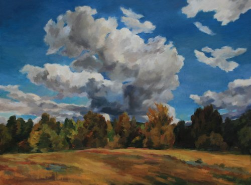 Joro Petkov, Oil on canvas, Landscape, # 4