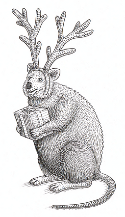 Merry Quokkmas. Christmas card in stock now!