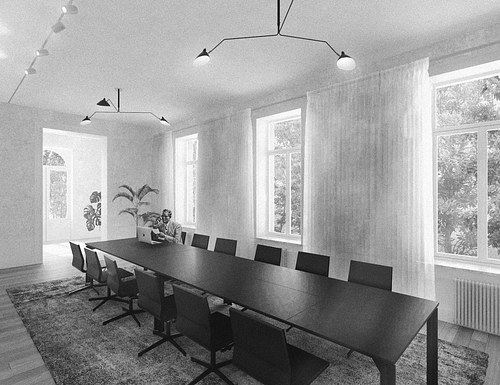 Meeting room_#blackandwhite
