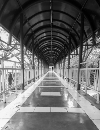 Walkpath around Pasig City Hall, Manila, Philippines.