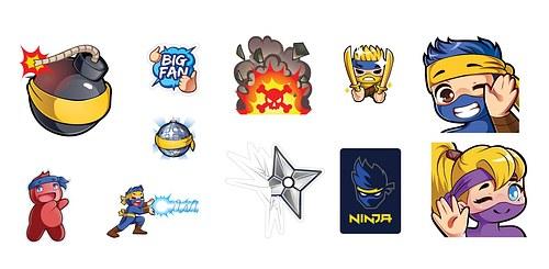 Ninja Fortnite Stickers