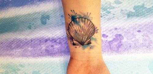 Seashell Splash Tattoo