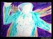 The Illuminated Man Wearing the Blue Hummingbird Cloak