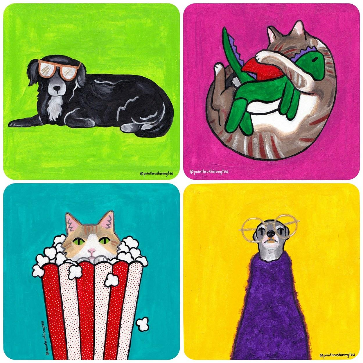 Happy Pets Week art challenge