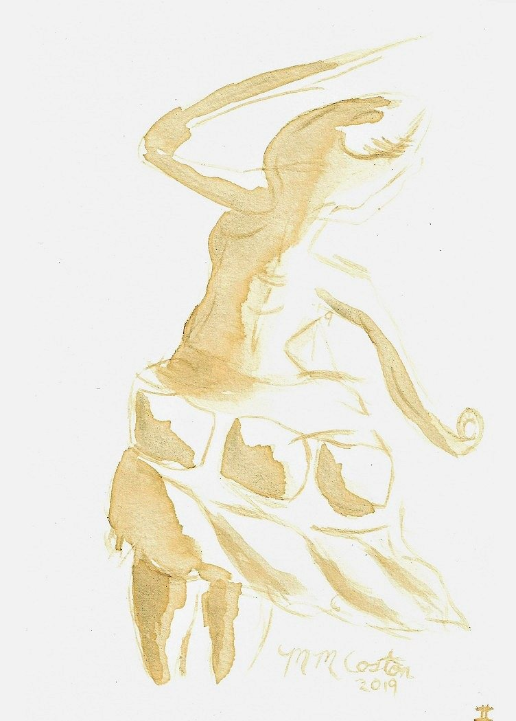 Ballerina in Lines and Wash