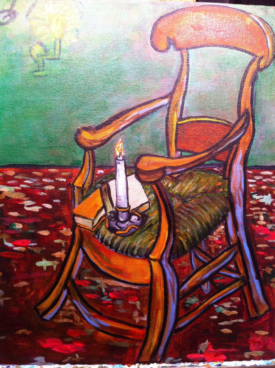 Gauguin's Chair (after Van Gogh)