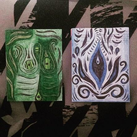 bosom verde + blossoming blues