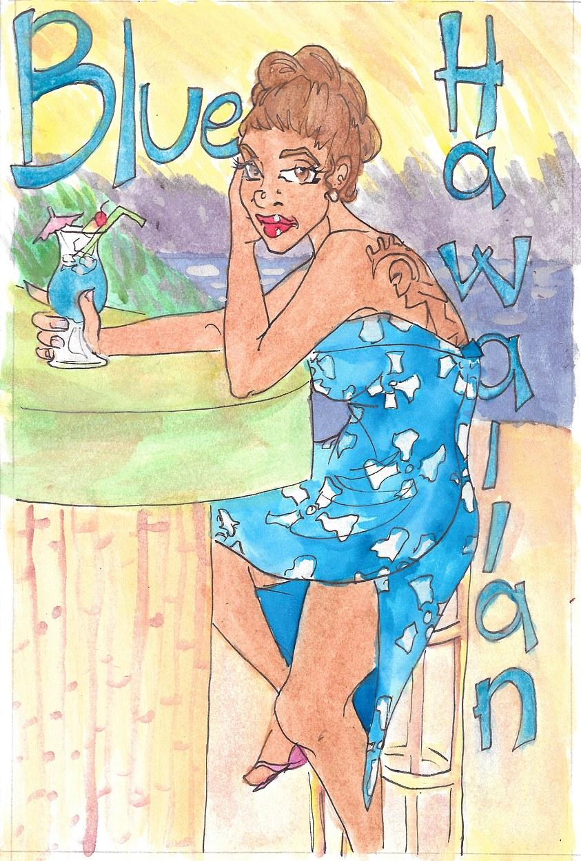Tiki Drinks: Blue Hawaiian