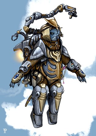 Skybird Power Armour Samurai