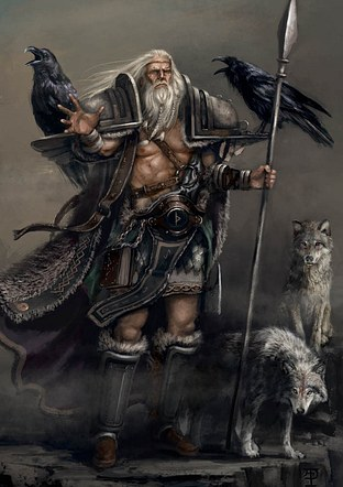 Odin with Familiars