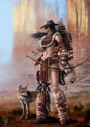 Warrior with Coyote