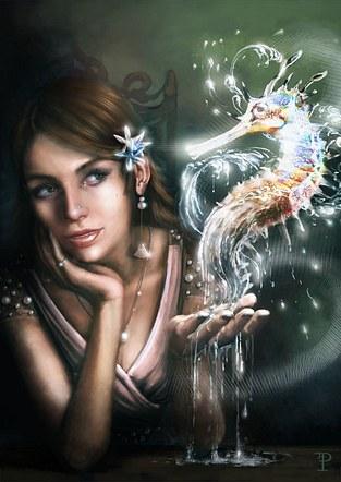 Seahorse Conjurer Girl