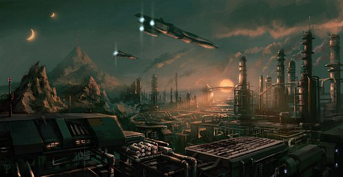 Futuristic Refinery